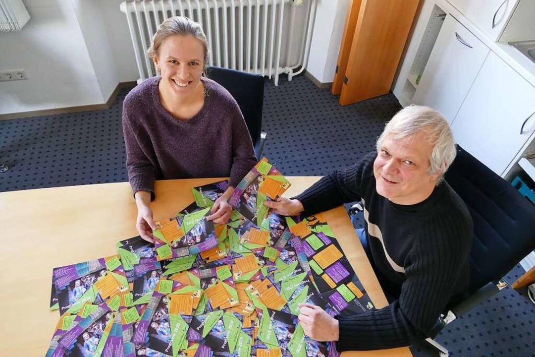 Christoph Richter und Franziska Grießb...na-Zeiten ein Angebot für junge Leute.  | Foto: Verena Pichler
