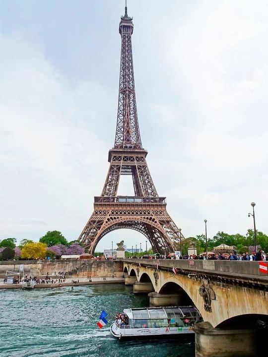 Der Eiffelturm ist das Wahrzeichen von...sse der sportlichen Wettkämpfe werden.    Foto: Andrea Warnecke (dpa)