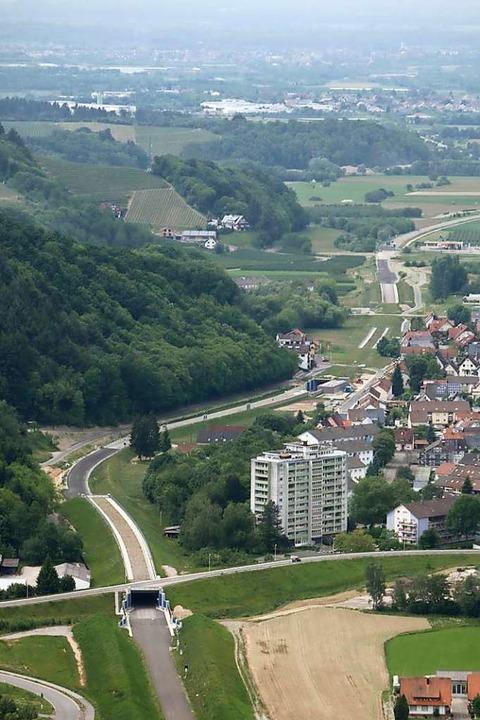 Der hintere der beiden Tunnels ist derzeit gesperrt.    Foto: stadt Oberkirch