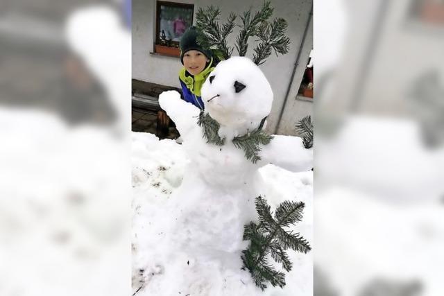 Preise für die schönsten Schneefiguren