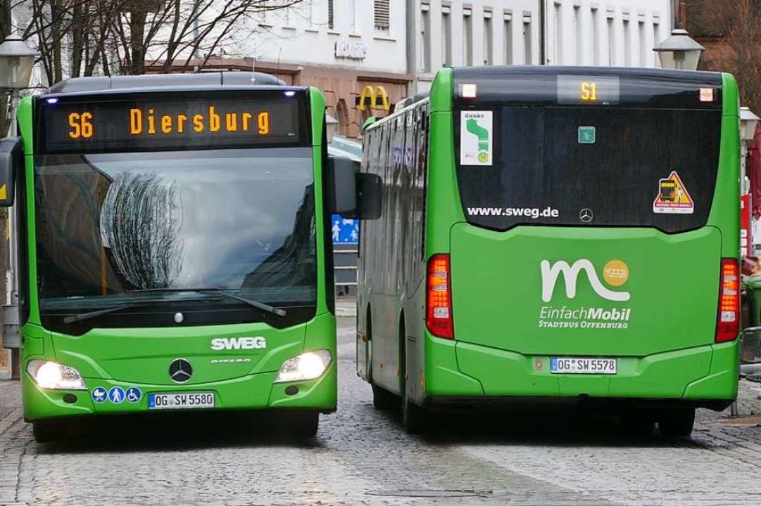 Die Stadt Offenburg will den ÖPNV attr...d in den Ausbau und günstigere Tarife.  | Foto: Helmut Seller