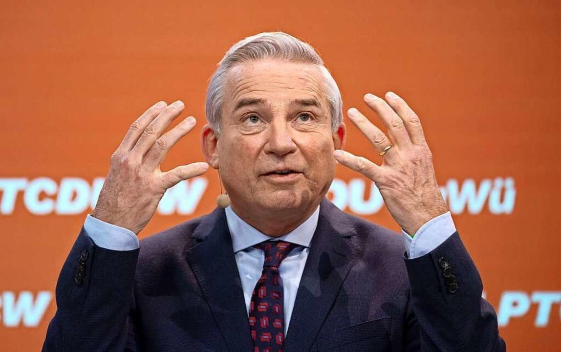 Innenminister Thomas Strobl (CDU)  | Foto: MARIJAN MURAT (AFP)