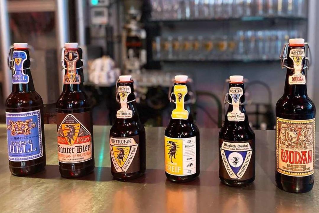 Von hell (links) bis dunkel (rechts): ...l des umfangreichen Verkostungspakets.  | Foto: Brauerei Ganter