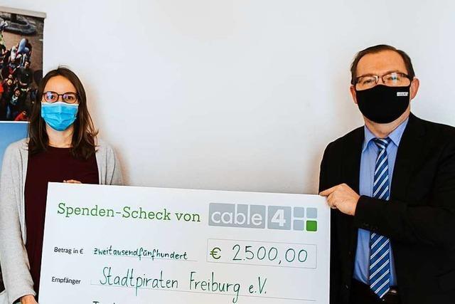 Cable 4 unterstützt die Freiburger Stadtpiraten