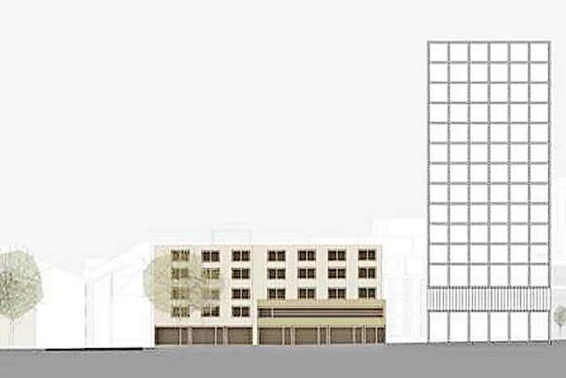 Die Planung für ein neues Hochhaus in Lörrach bleibt umstritten