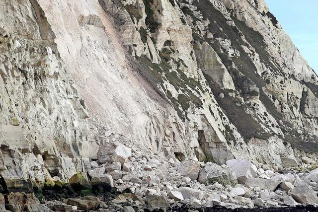 Ein Stück der White Cliffs abgebrochen