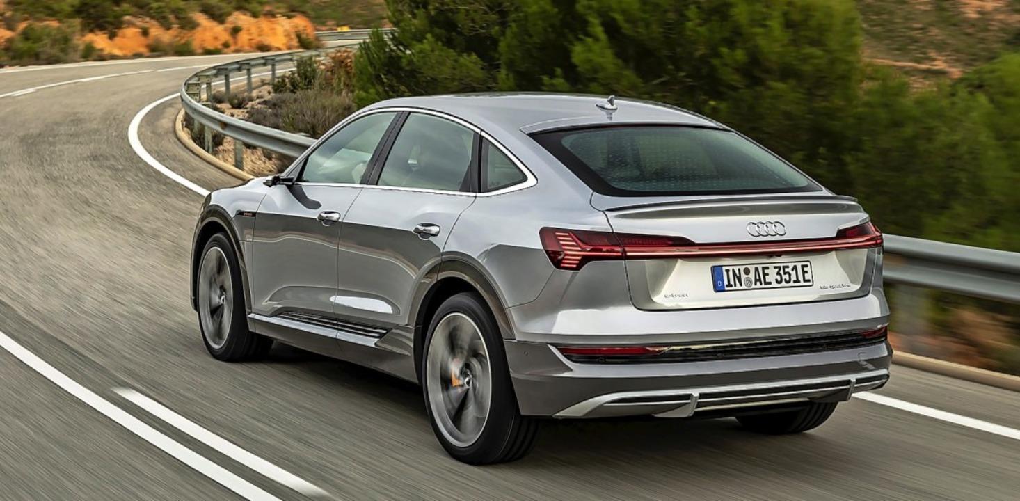 Auch große SUVs wie der Audi E-Tron Sp...f>2</BZ-Texttief>-Ausstoß und Gewicht.  | Foto: Audi