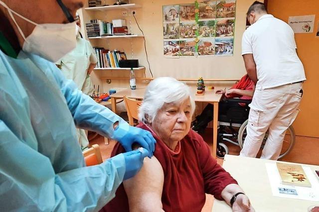 Heimbewohner der Bürgerstiftung in Wehr sind geimpft