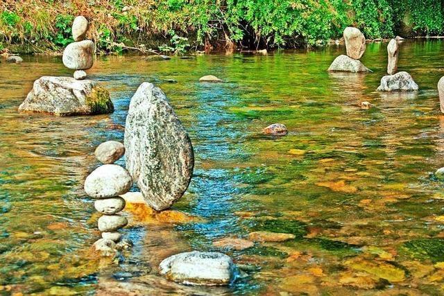 Balanceakt in der Dreisam