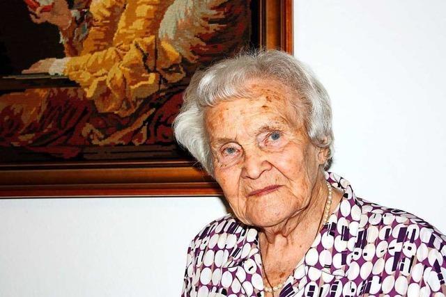 Die Lahrerin Margarete Greulich feierte ihren 100. Geburtstag