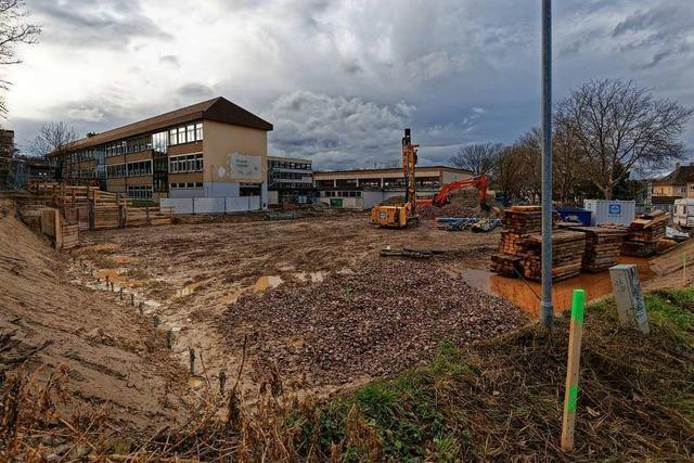 Bauarbeiten am Neubau der Endinger Grundschule verzögern sich