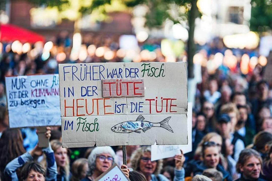 """Fridays for Future""-Demo ...onnen haben"", sagt Andreas Kern.    Foto: Fabio Smitka"