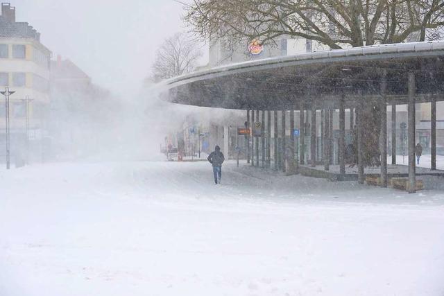 Schneesturm fegt durch Mitteldeutschland