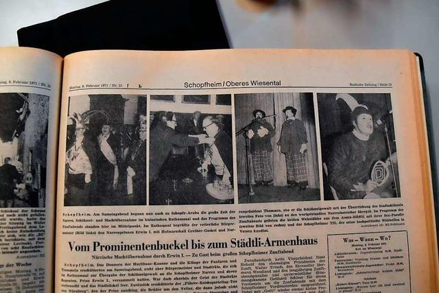 Kritische Worte über den Zunftabend in Schopfheim von 1971