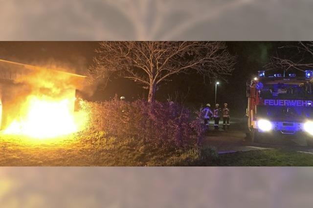 Brand am Vereinsheim