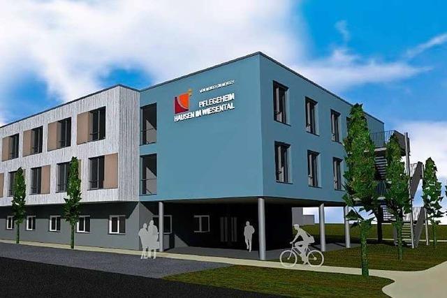Der Bau des Pflegeheims des Landkreises in Hausen hat begonnen