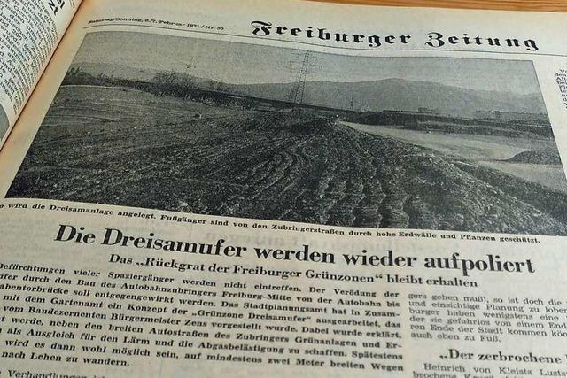 Spazierwege an der Dreisam waren 1971 ein Freiburger Großprojekt