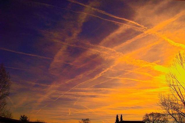 Bunte Himmelsbilder in stetiger Bewegung