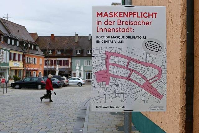 Maskenpflicht in Breisacher Innenstadt aufgehoben