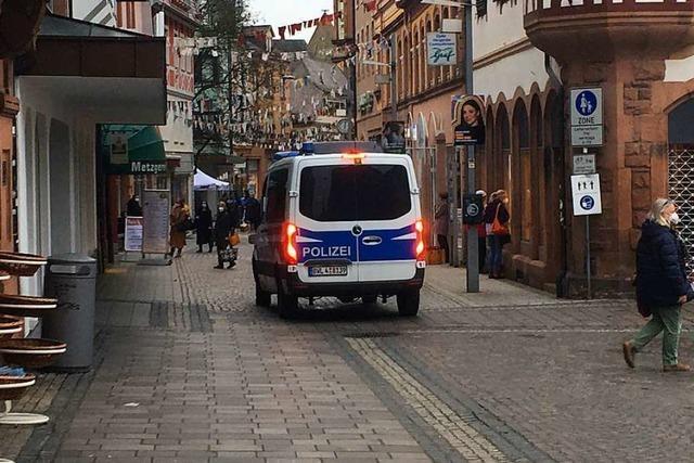 Polizei kontrollierte am Samstag in Lahr die Einhaltung der Corona-Auflagen
