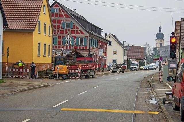 Baustelle in Kappel-Grafenhausen
