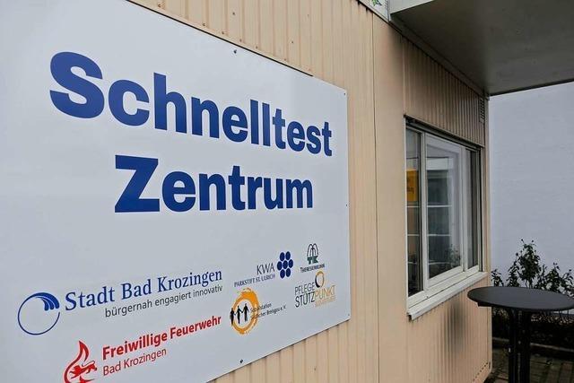 Corona-Schnelltestzentrum in Bad Krozingen nimmt Betrieb auf