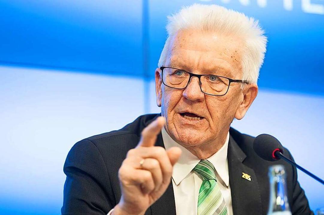 <BZ-Keyword>Winfried Kretschmann </BZ-...inisterpräsident in Baden-Württemberg.    Foto: Sebastian Gollnow (dpa)