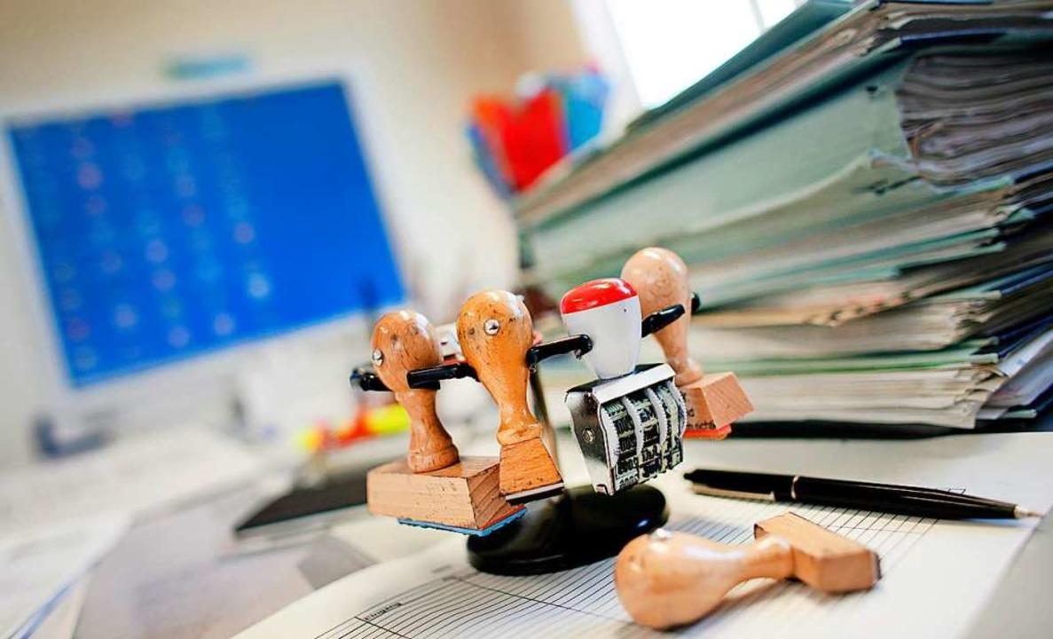 Der Bürokratieabbau war eines der Them...kandidaten beschäftigten (Symbolbild).  | Foto: Patrick Pleul, dpa