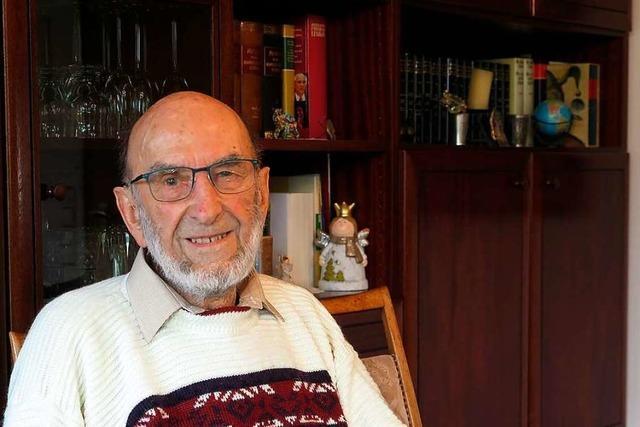 Schliengens Ehrenbürger Karl Mannhardt wird 90 Jahre alt