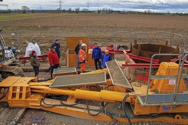 Brunnenbau schreitet voran
