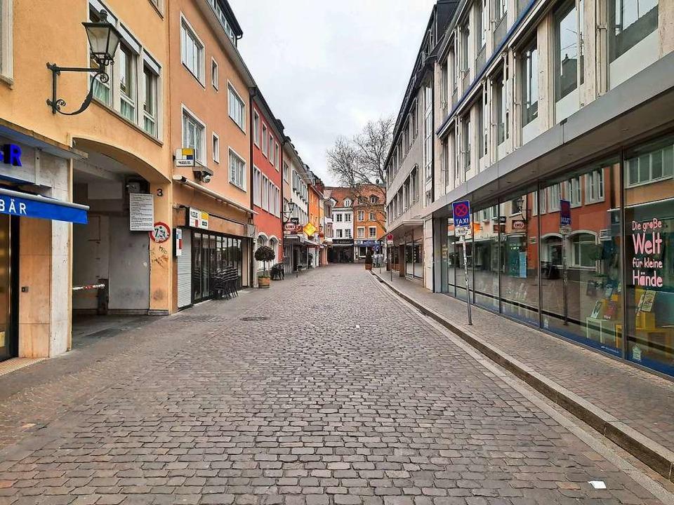 Freiburg im Mai 2020: keine Touristen, weniger Übernachtungen.  | Foto: Michael Bamberger