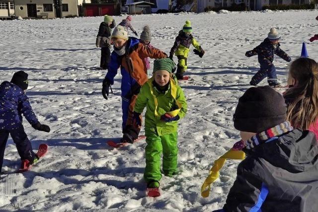 Homeschooling auf Mini-Skiern