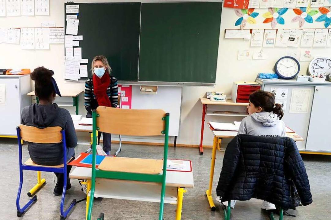 In Frankreich findet Präsenzunterricht... eines Corona-Ausbruchs. (Archivbild).    Foto: Jean-Francois Badias
