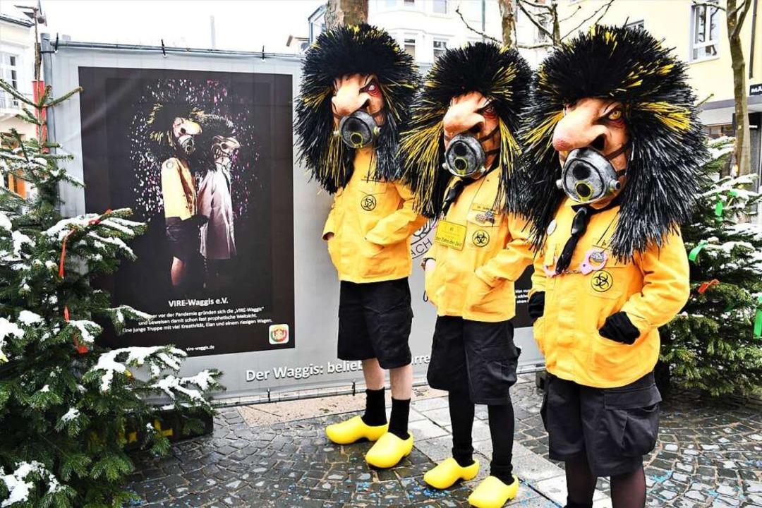 Die Vire-Waggis, Lörrachs jüngste in d...rrengilde aufgenommene Fasnachtsclique  | Foto: Barbara Ruda