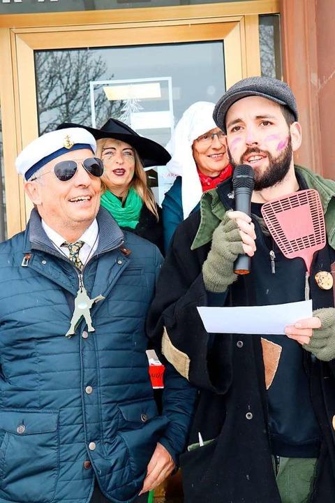 Hinterzartens Bürgermeister Klaus-Mich...ch bei seiner Entmachtung im Jahr 2018  | Foto: Dieter Maurer