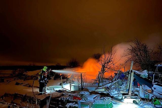 Ein Verletzter bei nächtlichem Brand in Gottenheim
