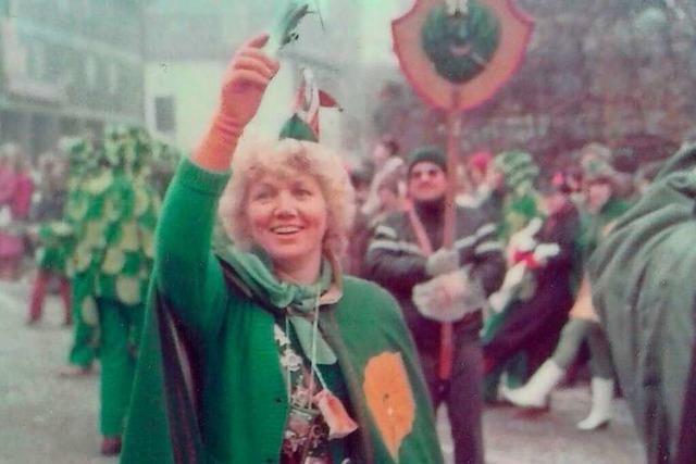 Marianne Behlinger war die erste Frau auf dem Narren-Chefsessel