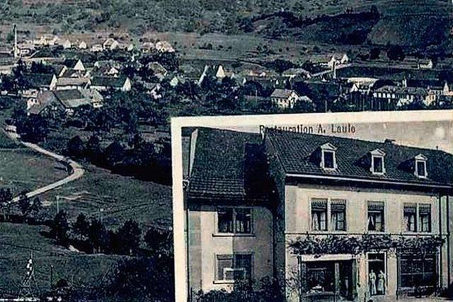 In der Weinstube der Metzgerfamilie Laule richteten die Nazis ein Lazarett ein