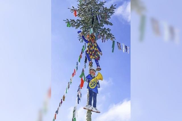 Christbaum mutiert zum Narrenbaum