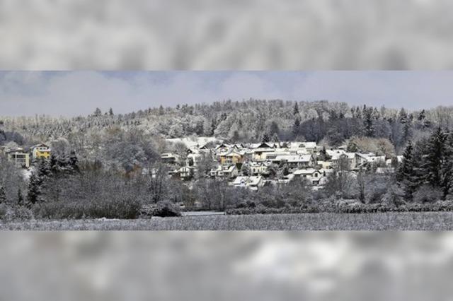 Verschneites Rheinfelden