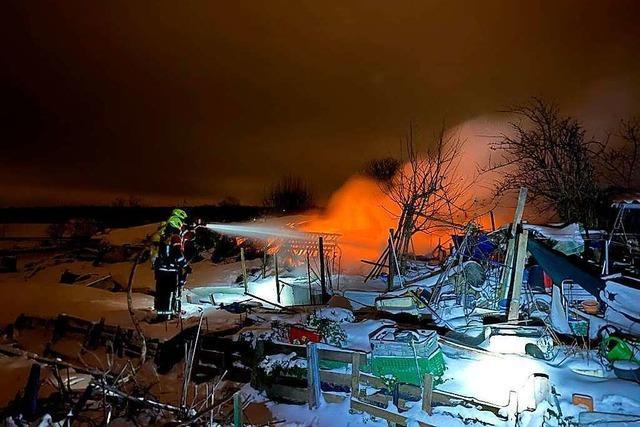 Baracke auf Gottenheimer Gartengrundstück abgebrannt