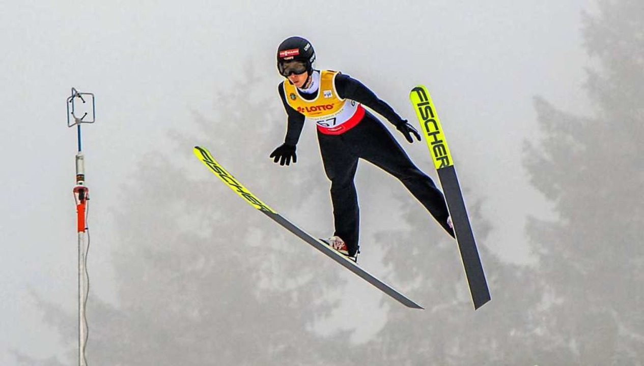 Nur wenige waren gestern in Lahti am Schanzentisch schneller: Quirin Modricker    Foto: Gerhard Koenig via www.imago-images.de