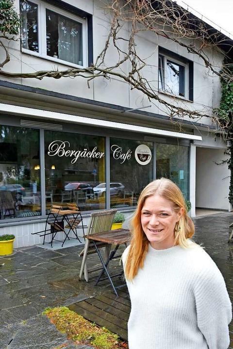 """Katrin Lippmanns """"Bergäcker Café...ut ins nachbarschaftliche Miteinander.    Foto: Michael Bamberger"""