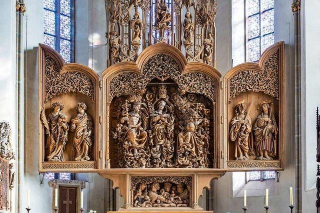 Der Hochaltar im Breisacher Münster ist ein Kunstwerk von europäischem Rang