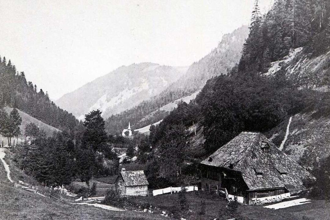 Löffelschmiede mit Oswaldkapelle: Die ...uer das Gebäude vernichtete. Fesersche  | Foto: Archiv Roland Weis