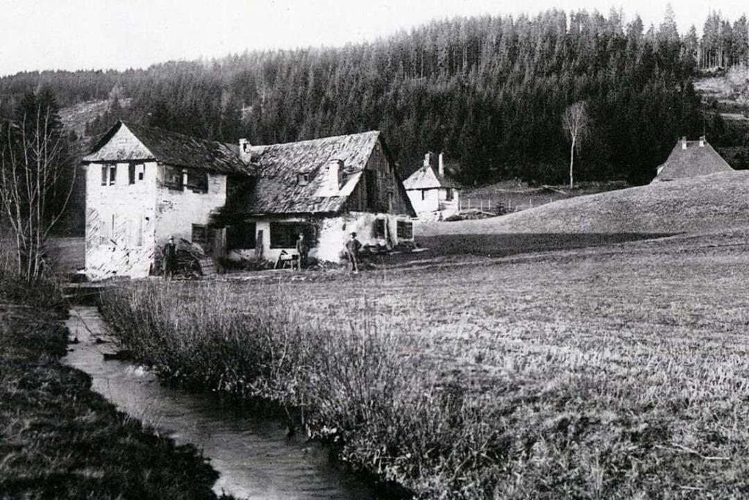Löffelschmiede Bruderhalde vor dem Abb...er die Löffelschmiede von Jacob Feser.  | Foto: Archiv Roland Weis