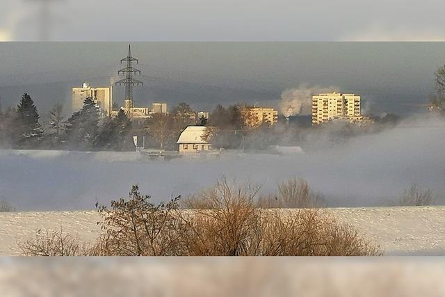 Wintermorgen am Großen Deich