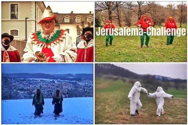 Videos: Lörracher Narren und die Stadtspitze tanzen zu Jerusalema