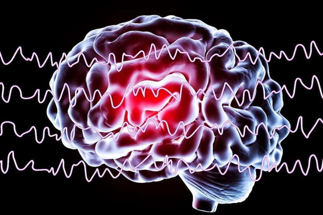 Wenn die Hirnaktivität Wellen schlägt:...phie (EEG) werden Hirnströme gemessen.    Foto: Science Photo Library
