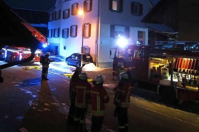 Einsatz für die Feuerwehr wegen eines Kaminbrandes in Egringen